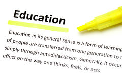 Definition of education Stock Photography