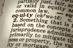 Definition of Equity Royalty Free Stock Photo