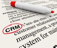 Definition för ordbok för ledning för CRM kundförhållande royaltyfri illustrationer