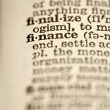 Definition of finance. Royalty Free Stock Images