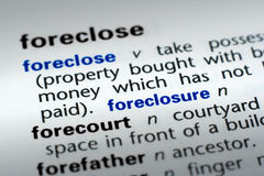 Definition of Foreclosure Stock Photo