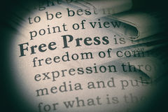 Definition of free press Royalty Free Stock Photos