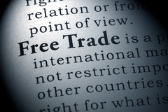 Definition of free trade Royalty Free Stock Image