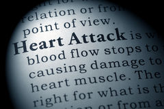 Definition of heart attack Stock Photography