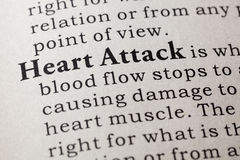Definition of heart attack Stock Photos