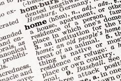 Definition of Home Stock Image