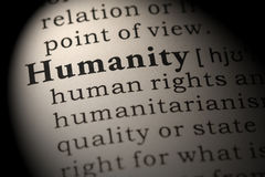 Definition of humanity Stock Photo