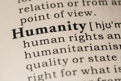 Definition of humanity Stock Images
