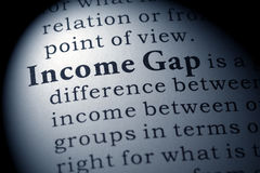 Definition of income gap Stock Image