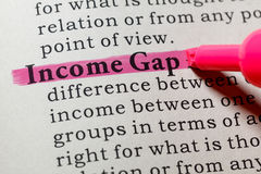 Definition of income gap Royalty Free Stock Images