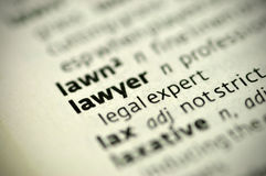 Definition:lawyer Stock Image