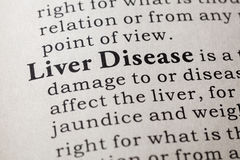 Definition of liver disease Royalty Free Stock Photography