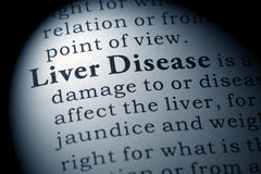 Definition of liver disease Stock Photo