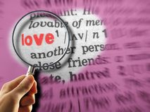 Definition of love with background Royalty Free Stock Image