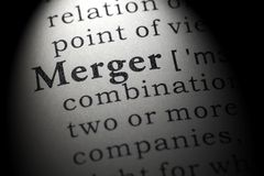 Definition of merger. Fake Dictionary, Dictionary definition of the word merger. including key descriptive words royalty free stock photo