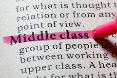 Definition of Middle class. Fake Dictionary, Dictionary definition of the word Middle class. including key descriptive words Royalty Free Stock Photos