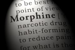Definition of morphine. Fake Dictionary, Dictionary definition of the word morphine. including key descriptive words royalty free stock photos