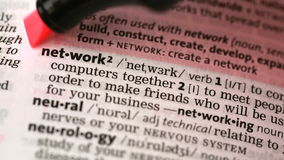 Definition of network and networking stock footage