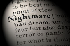 Definition of nightmare Stock Photography