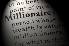Free Definition Of Millionaire Royalty Free Stock Photography - 127347067