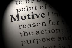 Free Definition Of Motive Stock Image - 124010281