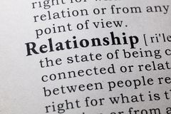Free Definition Of Relationship Stock Images - 135385374
