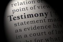 Free Definition Of Testimony Stock Photos - 125848743