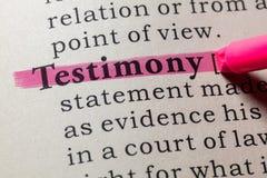 Free Definition Of Testimony Stock Photography - 125848752