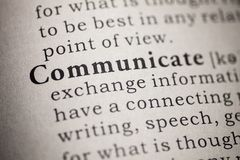 Free Definition Of The Word Communicate Stock Photos - 143373853