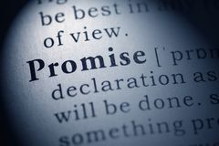 Free Definition Of The Word Promise Royalty Free Stock Photos - 143373848