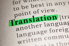 Free Definition Of The Word Translation Stock Images - 153522054