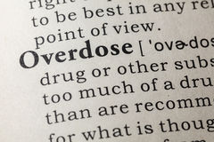 Definition of overdose Royalty Free Stock Photos
