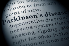 Definition of Parkinson`s disease Royalty Free Stock Image
