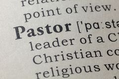 Definition of pastor. Fake Dictionary, Dictionary definition of the word pastor. including key descriptive words stock photos