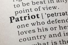 Definition of patriot. Fake Dictionary, Dictionary definition of the word patriot. including key descriptive words royalty free stock photos