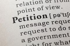 Definition of petition. Fake Dictionary, Dictionary definition of the word petition. including key descriptive words royalty free stock image