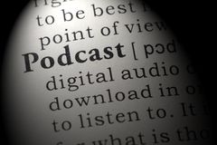 Definition of podcast royalty free stock photo