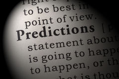 Definition of predictions. Fake Dictionary, Dictionary definition of the word predictions. including key descriptive words stock image