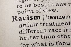 Definition of Racism Stock Image