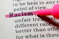 Definition of Racism royalty free stock image