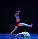 The definition of rape-Errand into the maze-Modern dance-choreographer Martha Graham. In December 19, 2014, Shi Feifei the dancer dance work session held in the Royalty Free Stock Photography