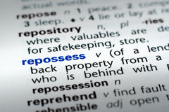Definition of Repossess Stock Photography
