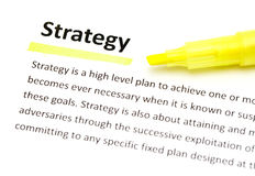 Definition of strategy Royalty Free Stock Image