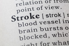 Definition of stroke Royalty Free Stock Image