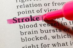 Definition of stroke Stock Images
