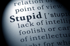Definition of stupid. Fake Dictionary, Dictionary definition of the word stupid royalty free stock photos