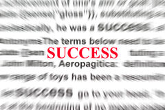 Definition of success Stock Images