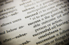 Definition of Success Stock Photography