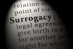 Definition of surrogacy stock photo