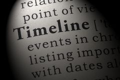 Definition of Timeline. Fake Dictionary, Dictionary definition of the word Timeline. including key descriptive words royalty free stock images